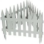 "Забор декоративный ""Рейка"", 28 х 300 см, белый, Palisad"