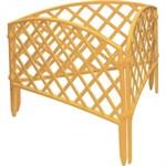 "Забор декоративный ""Сетка"", 24 х 320 см, желтый, Palisad"