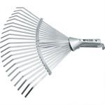 Грабли веерные стальные, 300-480 мм, 22 плоских зуба, оцинкованные,раздвижные, без черенка, Palisad
