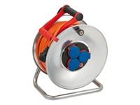 Удлинитель на катушке 40м (3 роз., 3.3кВт, метал. катушка, кабель до -35С, с/з) Brennenstuhl Garant