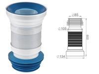 Удлинитель гибкий для унитаза, армированный 600 мм, AV Engineering (Гофра для унитаза)