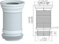 Удлинитель гибкий для унитаза, армированный 550 мм, AV Engineering (Гофра для унитаза)