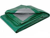 Тент усиленный зеленого цвета 8х10 м 120г/м2 с люверсами