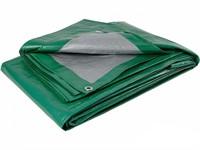Тент усиленный зеленого цвета 6х10 м 120г/м2 с люверсами
