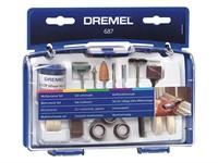 Набор аксессуаров для гравера 52 предмета в боксе (многофункциональный) DREMEL 687