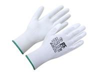 Перчатки нейлон, полиуретан. неполное покрытие, белые, р-р 9, Континент-Сити (для работы с мелкими деталями)