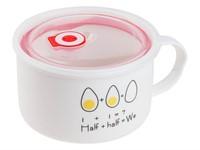 Кружка для супа с крышкой с паровыпуском, 900 мл, керамическая, EGG, PERFECTO LINEA