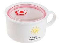 Кружка для супа с крышкой с паровыпуском, 900 мл, керамическая, SUN, PERFECTO LINEA