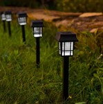 Светильник садовый на солнечной батарее (SLR-LND-35) LAMPER