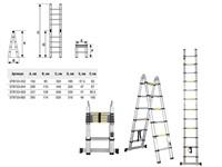 Лестница телескопическая 2-х секц. алюм. 295/620см, 2х10 ступ. 22,5кг STARTUL