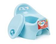 Горшок детский Lalababy Follow Me с крышкой, голубой пастельный, LITTLE ANGEL (285х237х180 мм)