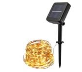 Светильник садовый на солнечной батарее SLR-G03-200Y ФАZА (нить, желт. 200 LED)