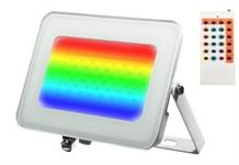 Прожектор светодиодный PFL -RGB-WH 30w IP65Jazzway драйвер в комплекте (Цветной+ пульт в комплекте, угол освещения 100с)