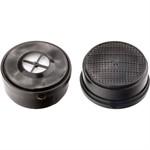 Фильтр комбинированный к полумаске изолирующей ИСТОК 300/400, марка А1Р1, 2 шт, Сибртех