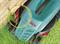 Газонокосилка электрическая BOSCH ROTAK 32 NEW (1200 Вт, шир. 32 см, корпус-ABS-пластик, травосб. 31 л)